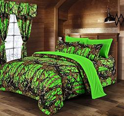 Regal Comfort Bio Hazard Green Camouflage Twin 5pc Premium L