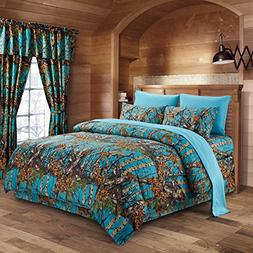 The Woods Sea Breeze Camouflage Full 8pc Premium Luxury Comf
