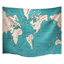 World Ocean Currents Hippie Tapestry Mandala Bohemian Bedroo
