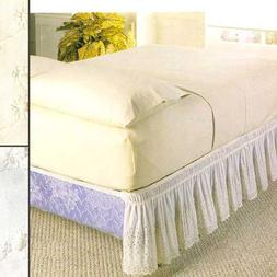 Eyelet Wraparound Bedding Collection - Twin/Full Bed Skirt,