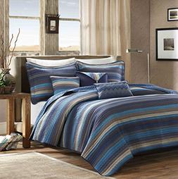 Madison Park Yosemite 6 Piece Quilted Coverlet Set, King/Cal