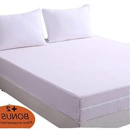 DOWNCOOL Zippered Mattress Encasement - Include 2 Bonus Pill